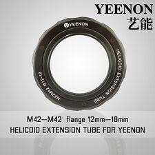 【YEENON】M42 to M42 x 12mm Focusing Helicoid Macro Extension Tube