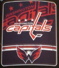 New Washington Capitals Fleece Throw Gift Blanket NHL Hockey Wings Logo Puck NIP