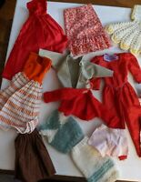 "VTG Fabulous Reds Mattel Barbie 12"" Doll Clothing Accessory Mixed Lot Free Ship"