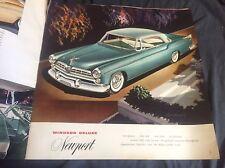 1955 Chrysler Windsor Color Sales Catalog Brochure Prospekt