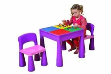 5in1 Multi Use Table and 2 Chairs Set for Children 3 Activity Play Water Lego