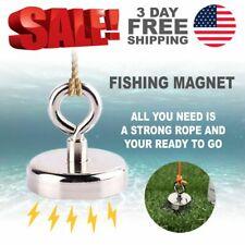 500lb 227kg Imanes De Pesca De Neodimio Super Potentes De Grado Magnetico Acero