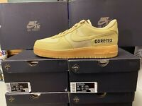 Nike Air Force 1 GTX Low GORE-TEX-Gold Khaki CK2630-700 Mens Sz 13 DOUBLE BOXED