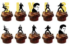 ELVIS PRESLEY edible cup cake toppers decorations *STAND UPS*