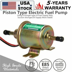 Universal 12V 2.5-4 PSI Gas Diesel Inline Low Pressure Electric Fuel Pump HEP02A