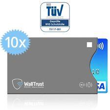 WallTrust® RFID NFC Blocker Schutzhüllen für EC Kreditkarten | TÜV | Seite offen