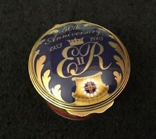 Royal Worcester Trinket Pill Box, 50th Anniversary of HM The Queen's Coronation
