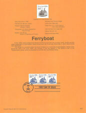 #9520 32c Ferryboat Coil Stamp #2466 USPS Souvenir Page