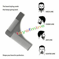 Peine de Hombre Cepillo para Recortar Cortar la Barba Plantilla HIPSTER Estilo