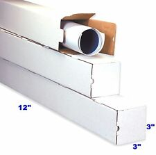25 Pack 12x3x3 White Corrugated Carton Cardboard Packaging Shipping  Box Boxes