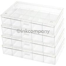 4x 6er Schmuckbox / Perlenbox SCHMUCK PERLEN transparent NEU