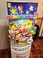 Mario Party 9 official Standee Double sided New flat Packed