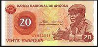 1976 Angola 20 Kwanzas Banknote * AV 873568 * UNC * P-109a *
