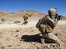 Guerra Ejercito Soldado Pistola Rifle desierto marino ejercicio Art Print bb3384a