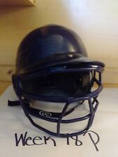 Rawlings Gloss Black Baseball Helmet Cfbh-1 w/ Rawlings Mask 6 1/2 -7 1/2