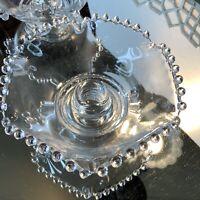 Candlewick Candle Holders Imperial Elegant Glass Vintage Set 2 #N1
