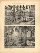 Stampa antica PARAVENTO CINESE Takeknon Ming 37-38 CINA CHINA 1920 Antique print