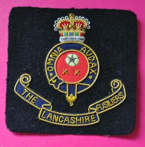 Lancashire Fusiliers bullion wire blazer badge