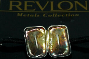 REVLON Metals Collection Vintage 1997 Hair Tie Iridescent Metal Elastic Band NEW