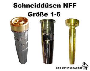 Harris Schneiddüse 6290 NFF Größe 1/2/3/4/5/6 Propan Erdgas Schrottbrenner Brenn