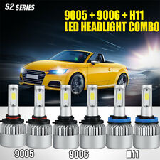 9005 + 9006 + H11 6pcs CREE LED Headlight Combo Hi/Low Beam Bulb 6500K Fog Light