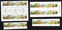 SET of 4 NATIONAL GALLERY of AUSTRALIA STAMPS - GUTTER BLOCK BOOKLETS STRIP MINT