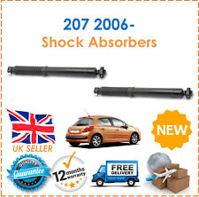 For Peugeot 207 2006- Two Rear Gas Shock Absorbers Dampers Set Pair x2 New