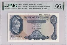 Great Britain P#372 ND1961  5 pounds banknote PMG 66 Gem UNC