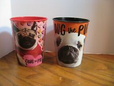 Official Doug the Pug Cups- Valentine & Halloween Plastic 16 oz. Cups