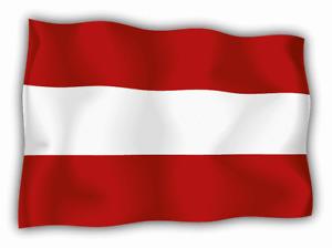 "Austria Wave Flag Car Bumper Sticker Decal  ""SIZES''"