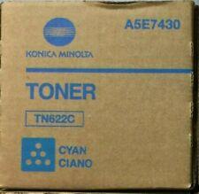 New Konica Minolta Bizhub Press C1085 C1100 TN622C Cyan Toner