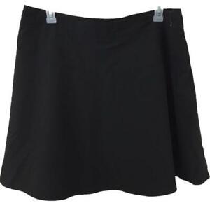 IZOD Golf SKORT size 18 skirt w shorts black zipper pocket