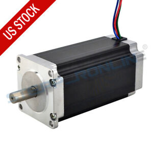 Nema 23 Stepper Motor 3Nm(425oz.in) 4.2A 113mm 10mm Shaft for CNC Router Mill