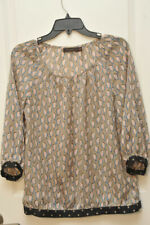 The Limited Bird Print Blouse Shirt Top Size XS
