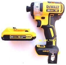 """NEW Dewalt DCF887 Brushless 20V Cordless 1/4"""" Impact, (1) DC203 Battery 20 Volt"""