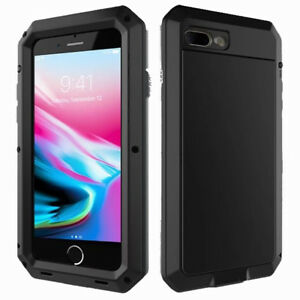 For Apple iPhone 7 / 8 Plus Shockproof Metal Frame w/Screen Protector Case Cover