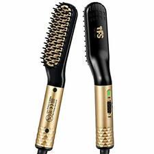 TFS Heated Beard Straightener Brush for Men - 2 In 1 Beard & Hair Straighteni...