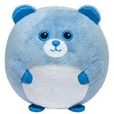 TY Beanie Baby Ballz - BLUEY the Blue Bear w/ Rattle (Regular Size - 5 inch)