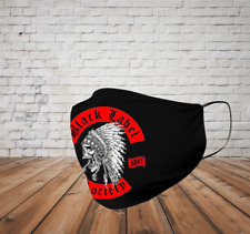 BLACK LABEL SOCIETY Indian Chief Skull rock band Men's Black Face Mask