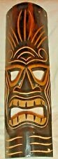 """20"""" CARVED & PAINTED WOOD AFRICAN MASK OPEN MOUTH & EYES WALL DECOR"""