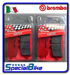 BREMBO SA SINTERED BRAKE PADS 2 SETS FOR SUZUKI HAYABUSA GSX R 1300 2013 > 2017