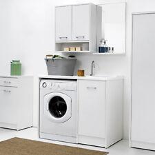 Mobile Lavatoio coprilavatrice con vasca DX e lavatrice a SX 106X50 colore bianc