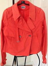 Diesel Women's Cropped Red Cotton Jacket.Size S