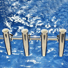 "4Pcs S.S. Marine Boat Clamp on Rails 1-1/4"" to 2"" Tournament Fishing Rod Holder"
