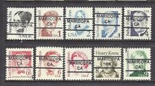 CALIFORNIA Precancels: Set of Great Americans - Maricopa 852