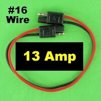 12V SAE Quick Connect Disconnects Waterproof # 16 Electrical Wire Battery Plugs