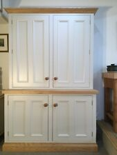 Suffolk Handmade Bespoke Painted Kitchen Larder Cupboard, solid Ash top.