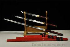 1060 QUALITY FORGED JAPANESE SAMURAI SWORD SET ( KATANA + WAKIZASHI +TANTO)