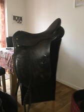 Black Leather 18 Inch Albion Ultra Style Dressage Saddle Narrow to Medium Width