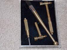Vintage Fletcher Wide Head Glass Cutter Hammer Set with Brass Handles in case